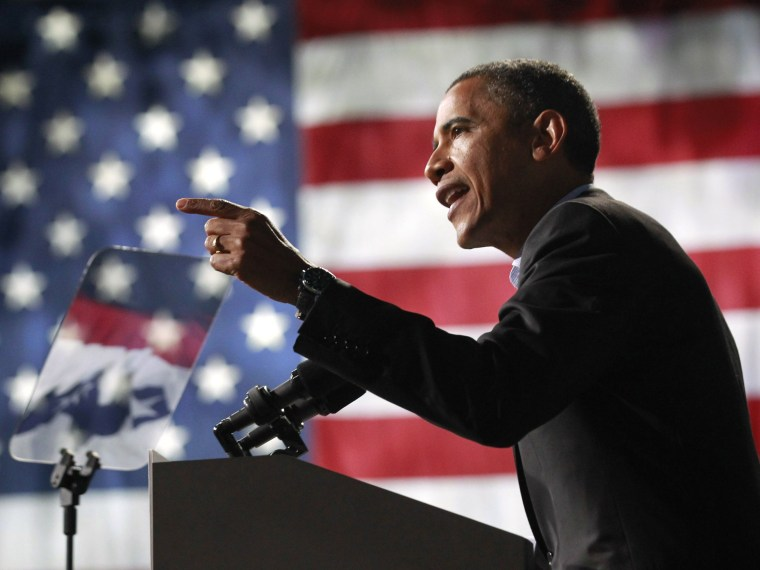 U.S. President Barack Obama speaks at an election campaign rally in Columbus, Ohio, November 5, 2012, on the eve of the U.S. presidential elections.  (Photo by  REUTERS/Jason Reed)