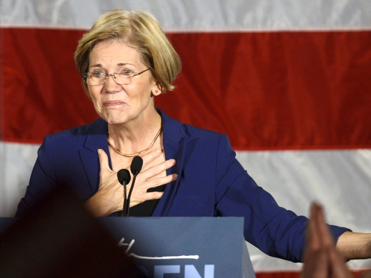 Democratic candidate for the U.S. Senate seat for Massachusetts Elizabeth Warren addresses supporters during her victory rally in Boston, Massachusetts, November 6, 2012. (Photo by REUTERS/Gretchen Ertl)