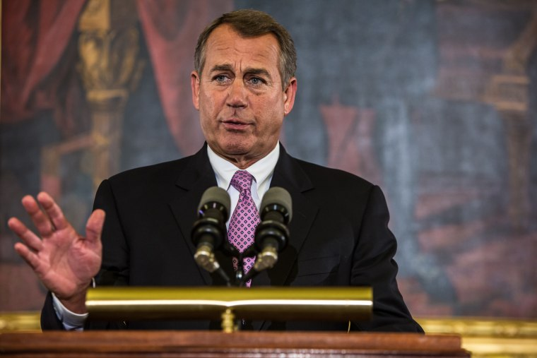 House Speaker John Boehner said he would pursue a path to immigration reform following the GOPs disastrous showing among Latino voters in the 2012 election. (Photo by Brendan Hoffman/Getty Images)