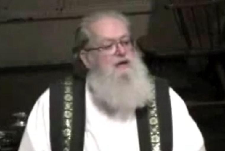Rev. Richard T. Lawrence giving a sermon (Youtube)