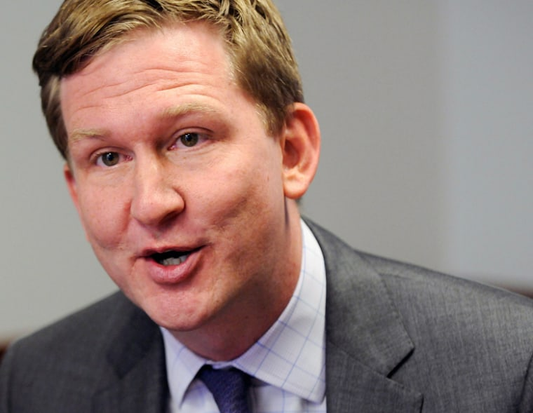 Guy Cecil, executive director, Democratic Senatorial Campaign Committee, responds to reporters during the Reuters Washington Summit in Washington, June 26, 2012.  (Photo: Jonathan Ernst/Reuters File Photo)