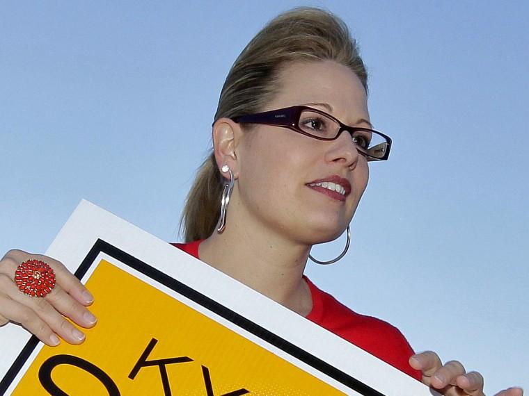 Arizona Democrat Kyrsten Sinema was declared the winner of the state's hotly-contested 8th district race Monday. (AP Photo/Matt York)