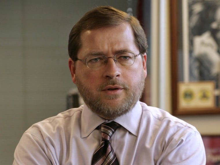 File photo: Conservative activist Grover Norquist stands in his office in Washington, Jan. 26, 2006. (Photo: AP Photo/Yuri Gripas, File)