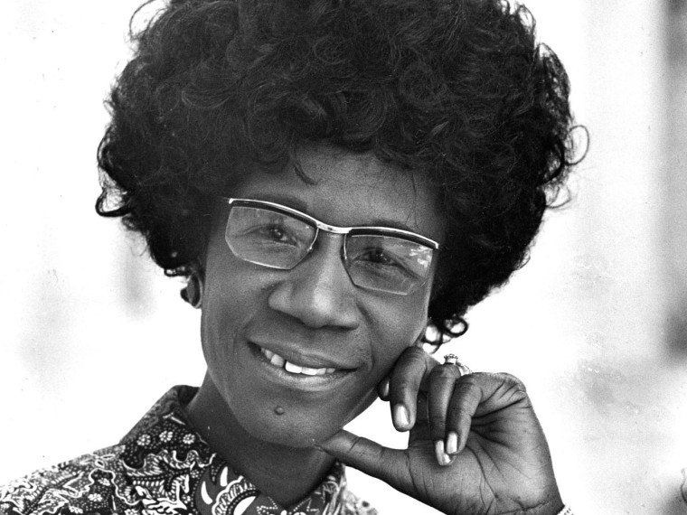 FILE PHOTO: Congresswoman Shirley Chisholm, D-N.Y., is seen in this 1971 file photo. Chisholm was the first black woman elected to Congress and an outspoken advocate for women and minorities during seven terms in the House. (AP File Photo)