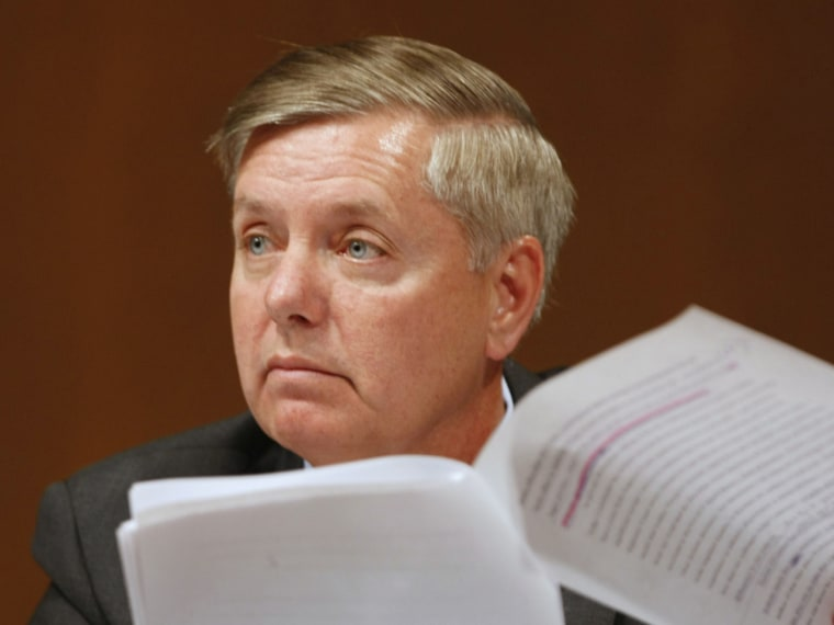 Sen. Lindsay Graham wants to compromise on a fiscal cliff deal. (Gerald Herbert/AP Photo)