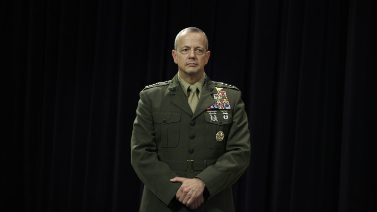 Gen. John Allen, America's top commander in Afghanistan, is the latest 4-star general snagged in the Petraeus scandal.(AP Photo/Virginia Mayo)