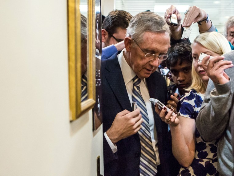 Senate Majority Leader Harry Reid (D-NV). (Photo by Brendan Hoffman/Getty Images)