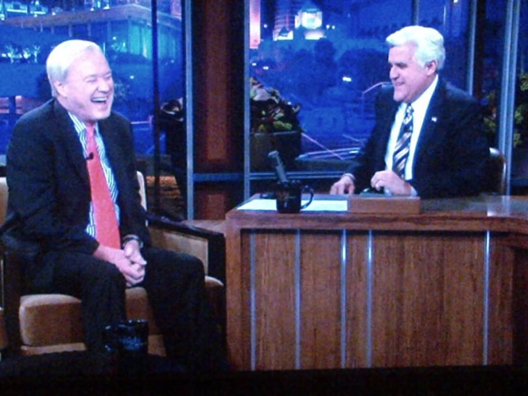 Chris Matthews appears on 'The Tonight Show' with Jay Leno on Friday.