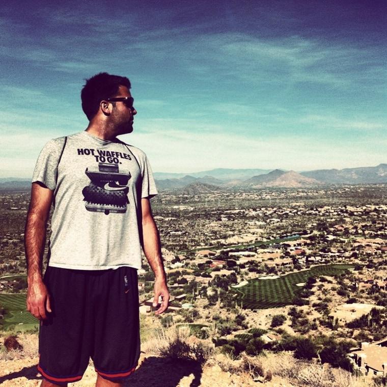 Nick Tuths overlooking Arizona