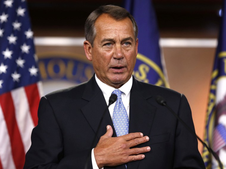 Speaker of the House John Boehner (R-OH) has said that he's open to new sources of revenue in order to avoid the fiscal cliff, public worker unions hop that he and other legislators can avoid budget cuts that affect their members.(Photo by Larry...