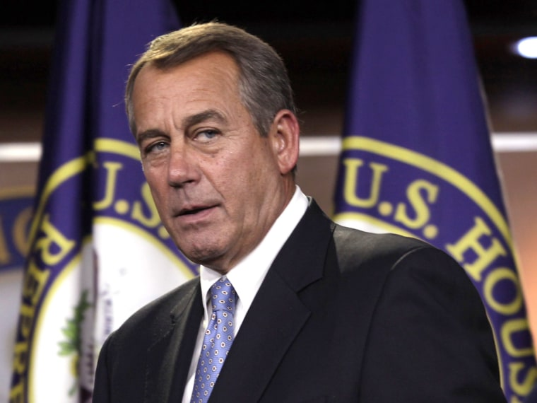 U.S. House Speaker John Boehner (R-OH) (L) arrives at a news conference on Capitol Hill in Washington in Washington, November 14, 2012. (Photo by Yuri Gripas/Reuters)