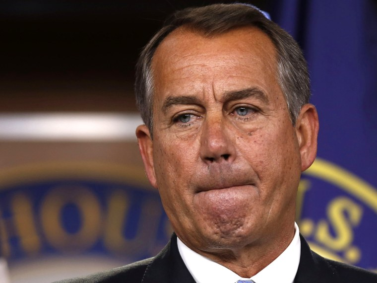 File photo: House Speaker John Boehner at a news conference in  Washington on November 9, 2012. (Photo by Larry Downing/Reuters)