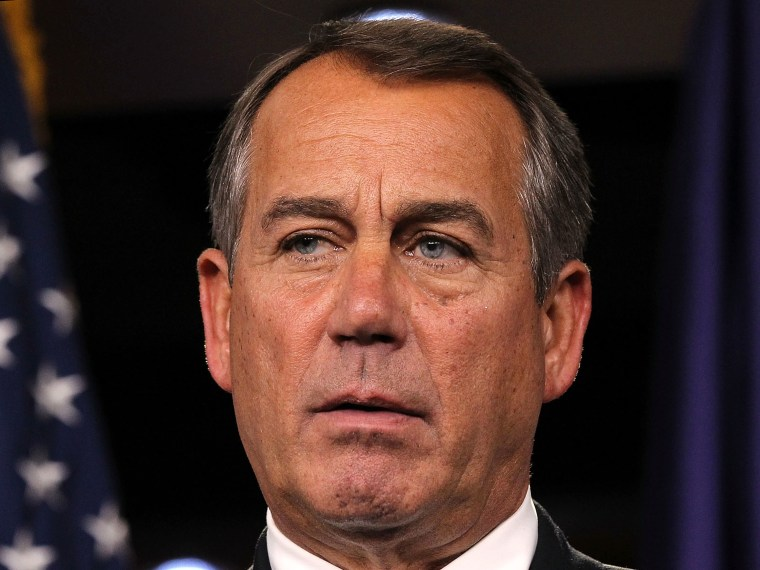 U.S. Speaker of the House Rep. John Boehner (R-OH) speaks during a news conference November 14, 2012 on Capitol Hill in Washington, DC. (Photo by Alex Wong/Getty Images)