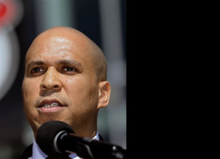 Newark Mayor Cory Booker earlier this year. (Photo by Julio Cortez/AP)