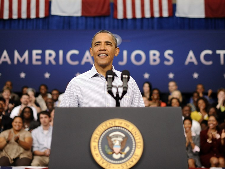 President Barack Obama speaks at the YMCA on Guilford Technical Community College Campus in Jamestown, North Carolina, on Oct. 18. (Photo by Jewel Samad/AFP - Getty Images Files)