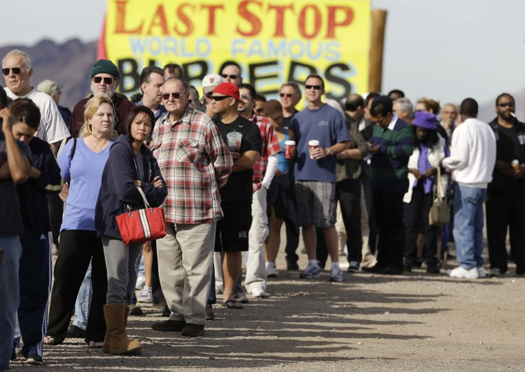 Black Friday? Nope. Powerball Wednesday. (AP Photo/Julie Jacobson)