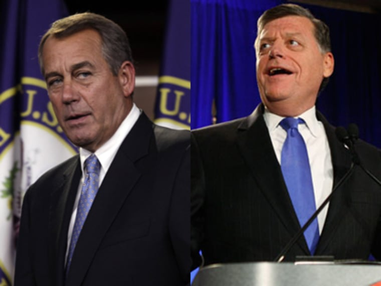 House Speaker John Boehner, R-Ohio, criticized Rep. Tom Cole, R-Okla., for siding with President Obama to vote to extend tax cuts for households making less than $250,000. (Photo: Reuters/Yuri Gripas; AP Photo).