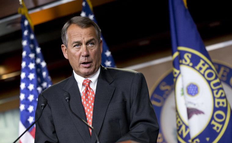"House Speaker John Boehner, Sunday:""Right now, I would say we're nowhere, period. We're nowhere.""(AP Photo/J. Scott Applewhite)"