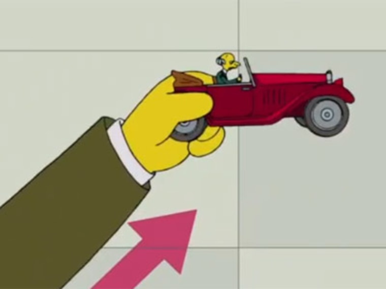 Off the cliff, Mr.Burns-style