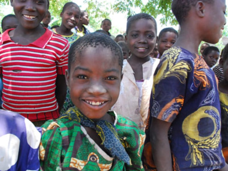 Students in Malawi who benefited from the K.I.N.D. Fund. (msnbc/UNICEF)