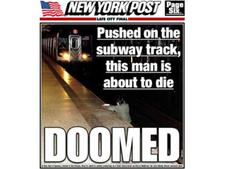 The controversial cover of the New York Post, featured on newstands Dec., 4, 2012.