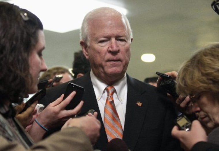 U.S. Senate Intelligence Committee vice chairman Senator Saxby Chambliss (R-GA) talks to the media in November     (REUTERS/Yuri Gripas)
