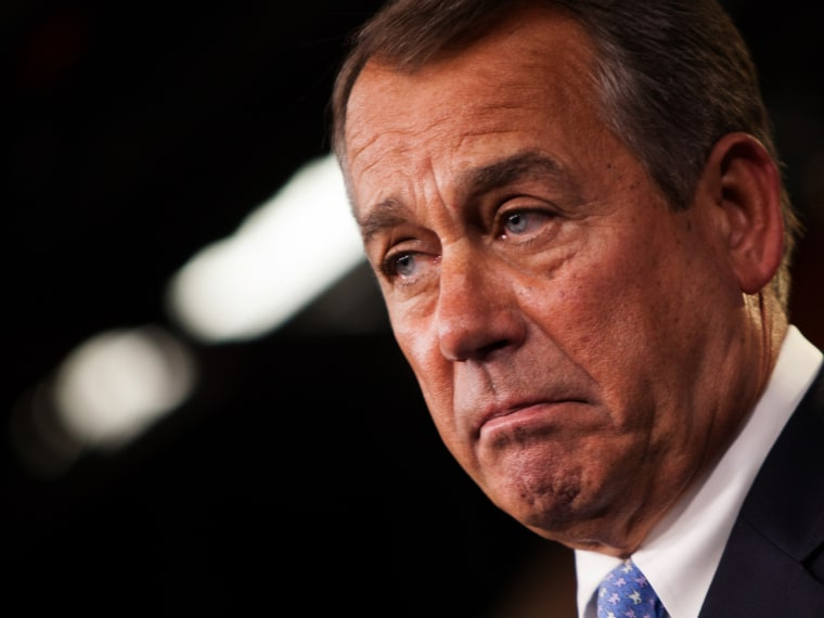 U.S. Speaker of the House Rep. John Boehner, R-Ohio, addresses the media during a press conference in the U.S. Capitol building November 9, 2012 in Washington, DC (Photo by Allison Shelley/Getty Images)