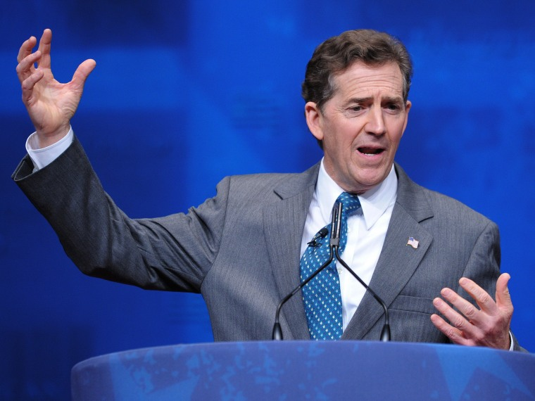File Photo: Senator Jim DeMint, R-SC, speaks during an address to the 39th Conservative Political Action Committee February 9, 2012 at a hotel in Washington, DC (Photo: Mandel NGAN/AFP/Getty Images)