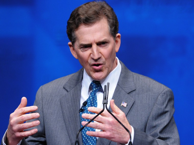 File Photo: Senator Jim DeMint, R-SC, speaks during an address to the 39th Conservative Political Action Committee February 9, 2012 at a hotel in Washington, DC (Photo:- by Mandel Ngan/AFP/Getty Images File)
