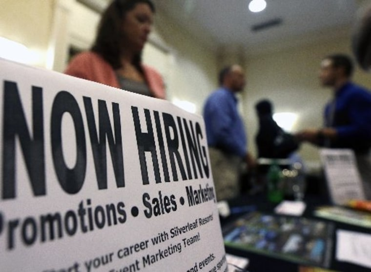 A job fair in October (AP Photo/Mike Groll)