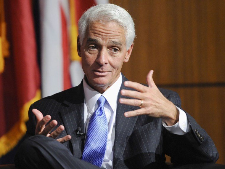 Former Florida Gov. Charlie Crist at the University of Southern California's inaugural symposium. (Photo by Gus Ruelas/REUTERS)