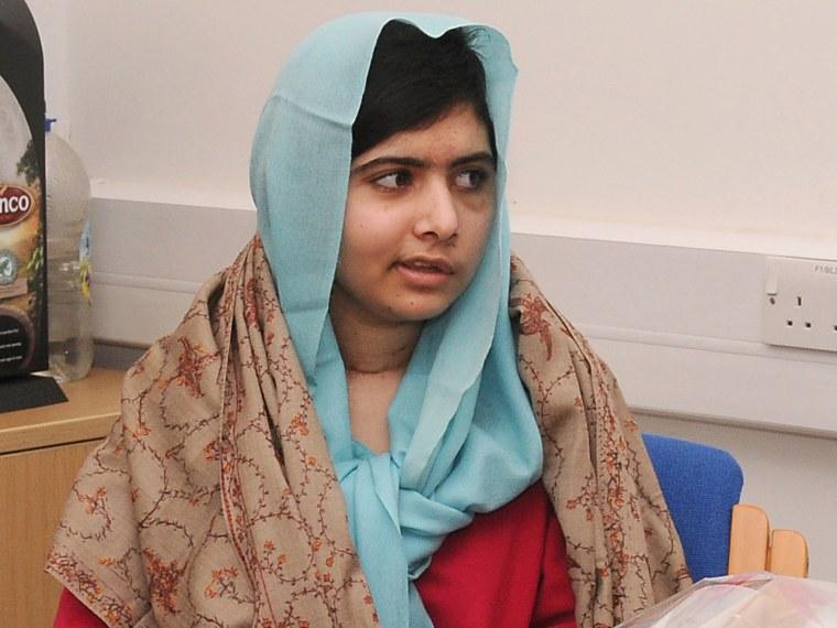Teen education advocate Malala Yousafzai recovers from a gunshot wound at Queen Elizabeth Hospital in England. (Photo by Queen Elizabeth Hospital Birmingham/AFP photo)