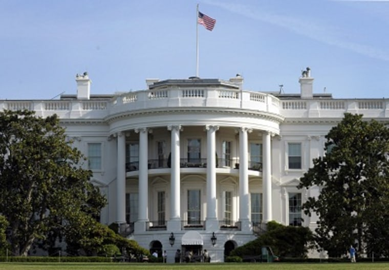 The White House seen from the South Lawn in Washington. (Photo by Susan Walsh/AP)