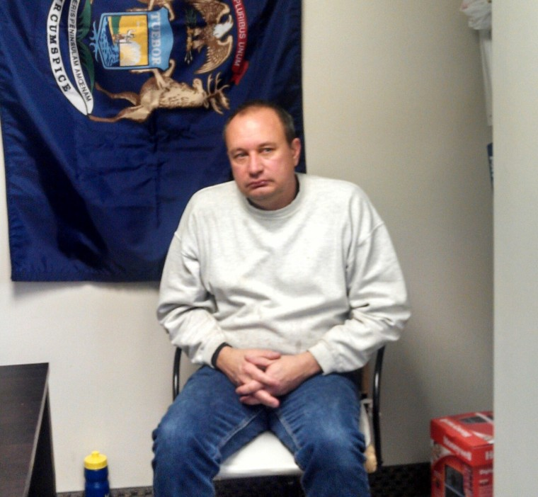 Michigan resident Thomas Duckworth, who says he saw Americans for Prosperity sabotage itself in order to portray union members as violent, on December 11, 2012. (Ned Resnikoff/msnbc)