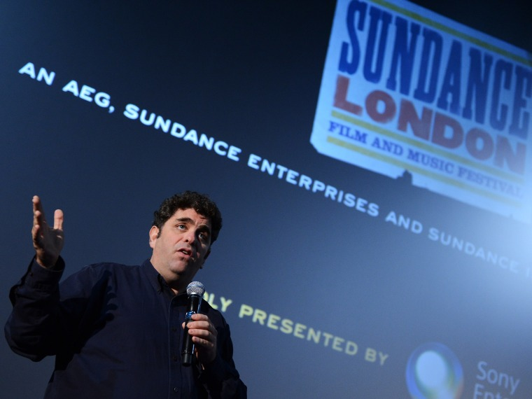 """File Photo: Filmmaker Eugene Jarecki speaks at the \""""The House I Live In\"""" screening and Q&A during Sudance London at Cineworld 02 Arena on April 27, 2012 in London, England.  (Photo by Ian Gavan/Getty Images for Sundance/AEG Europe/File)"""