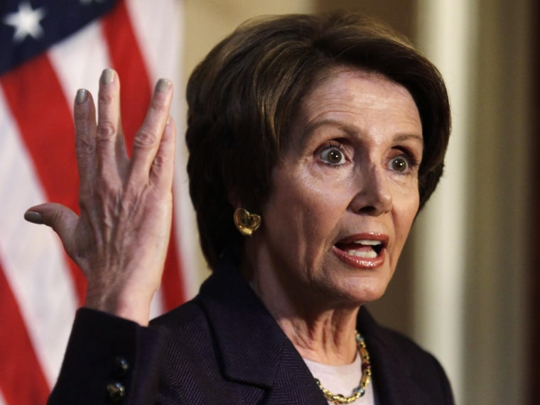 """U.S. House Minority Leader Nancy Pelosi, D-Ca., speaks to the media on Capitol Hill in Washington, December 7, 2012. With about three weeks left before the \""""fiscal cliff\"""" deadline, the task of avoiding the steep tax hikes and spending cuts was down to..."""