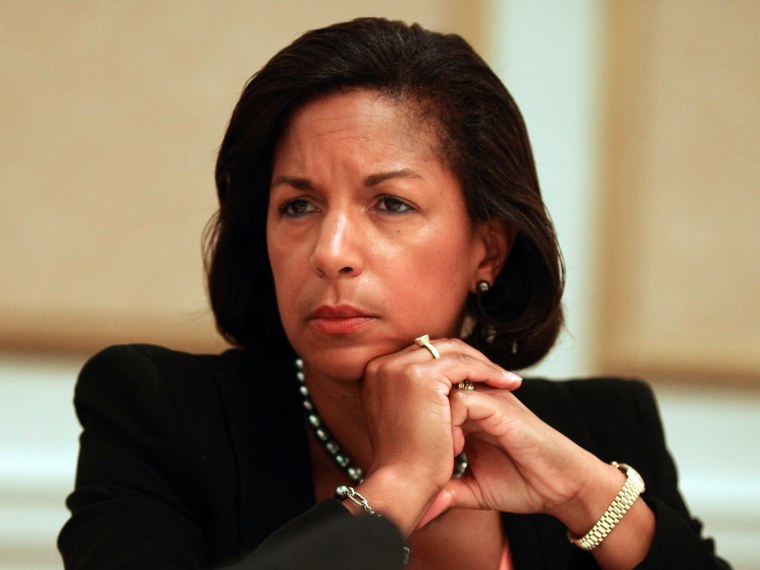 Susan Rice, U.S. Ambassador to the United Nations at the St. Regis Hotel in Washington, DC on September 12, 2011. (Photo by Michael Bonfigli / The Christian Science Monitor via Getty Images)