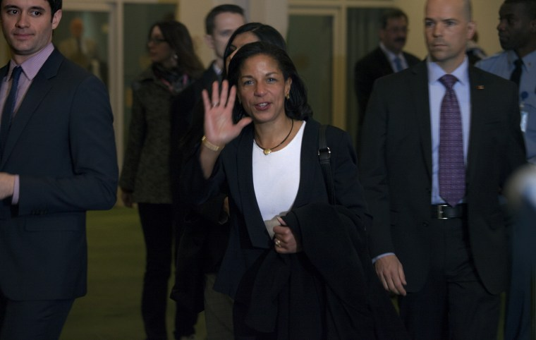 UN Ambassador Susan Rice will meet today with the President at about 3:30 p.m. (AP Photo/Craig Ruttle)