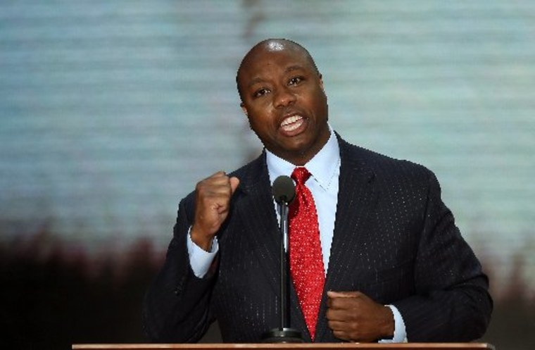 File Photo. Rep. Tim Scott, R-S.C., was reportedly picked by Gov. Nikki Haley to succeed retiring Sen. Jim DeMint Monday.  (Photo by Mark Wilson/Getty Images)