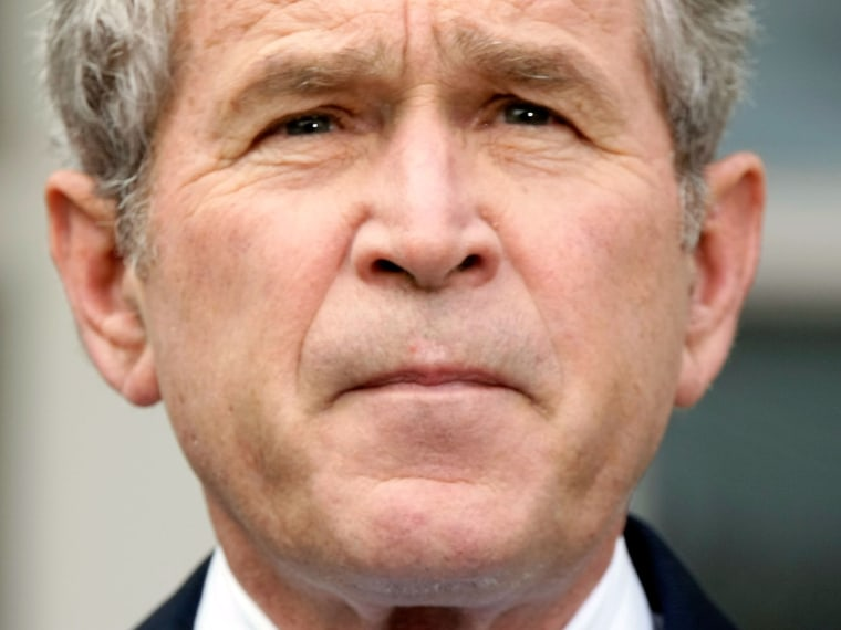File Photo: U.S. President George W. Bush pauses as he makes a statement on the election results at the Rose Garden of the White House November 5, 2008 in Washington, DC. Bush congratulated President-elect Barack Obama on his win of the presidential...