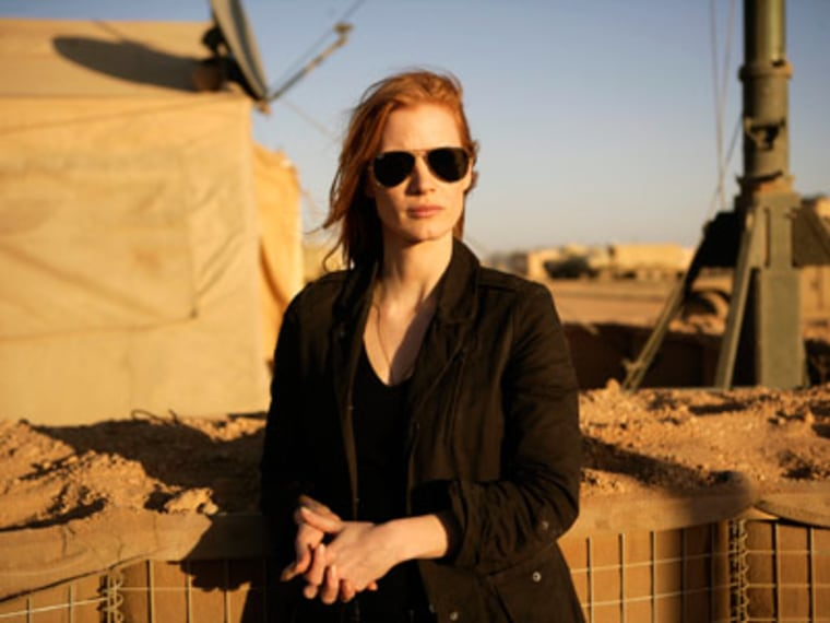 """Actress Jessica Chastain in a scene from \""""Zero Dark Thirty\"""" (Photo by Jonathan Olley/Columbia Pictures/AP Photo)"""