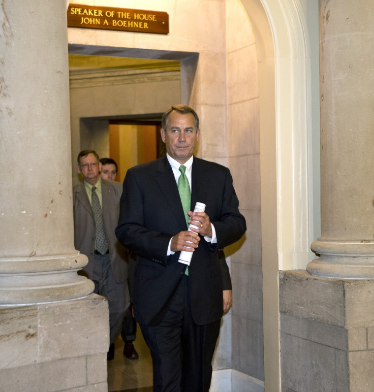 House Speaker John Boehner is fighting like mad for a bill that can't possibly become law.   (AP Photo/J. Scott Applewhite)