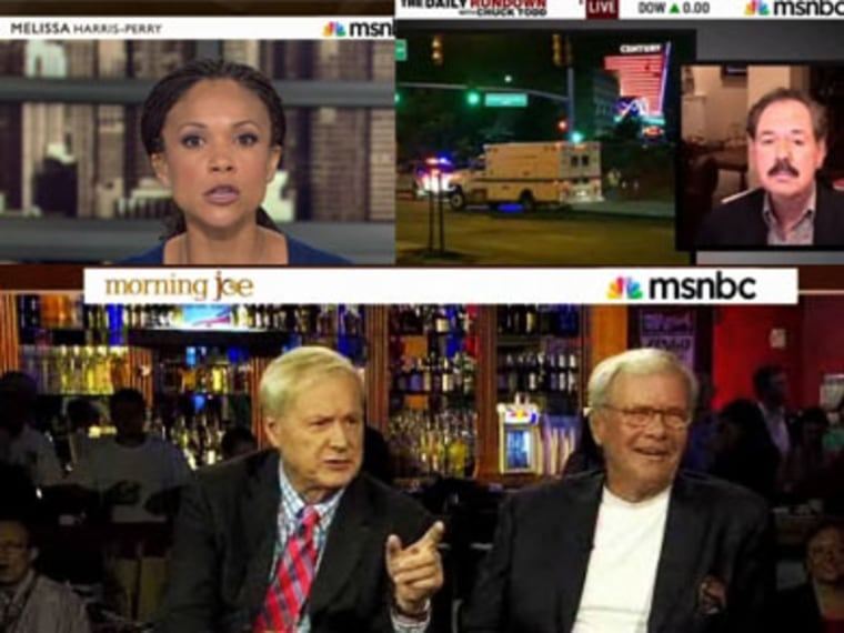 This photo illustration contains screen shots from the videos. (msnbc)