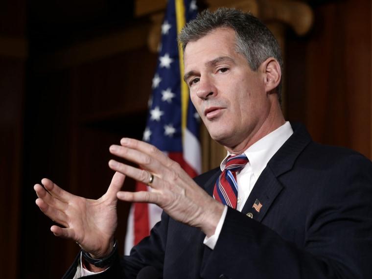 Former Sen. Scott Brown (Photo by AP Photo/Alex Brandon)