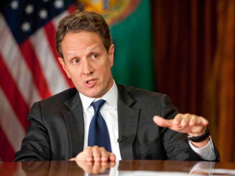 Treasury Secretary Timothy Geithner (Photo by Chris Usher/AP Photo)