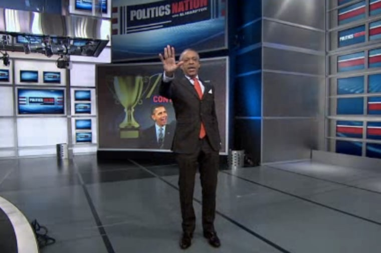 Rev. Sharpton shows off his James Brown-inspired dance moves.