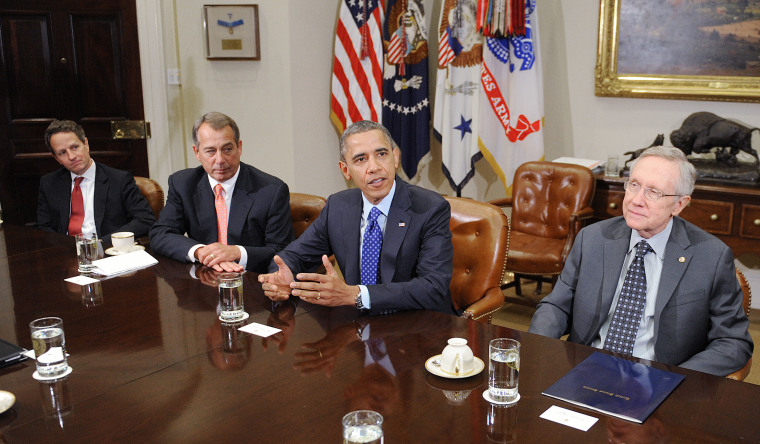 President Obama is scheduled to meet with Congressional leaders of both parties today. (Rex Features via AP Images)