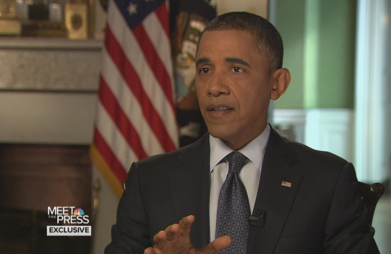 President Obama speaks exclusively with NBC's David Gregory on Meet the Press.