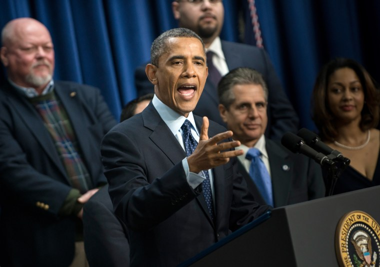 US President Barack Obama makes a statement about fiscal cliff negotiations from the White House December 31, 2012 in Washington, DC. Lawmakers in Washington continue to work on a last minute compromise to pass legislation to avoid a fiscal cliff of...