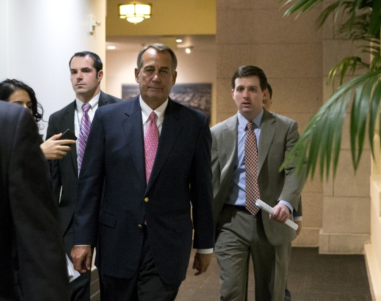 House Speaker Boehner has a very good reason to not be happy. (AP Photo/J. Scott Applewhite)
